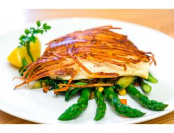 potato crusted flounder